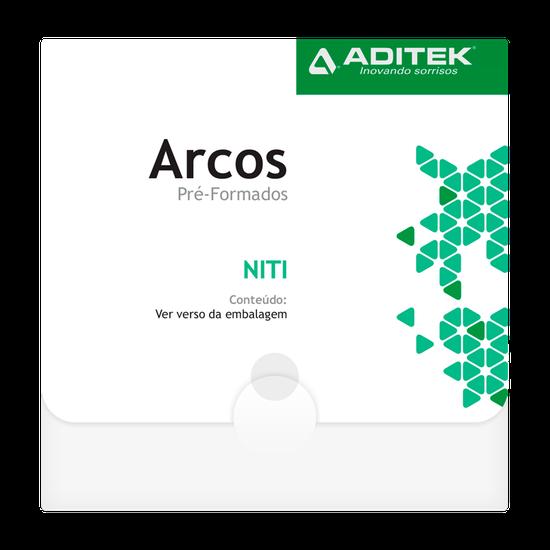 Arco Niti Martensitic Quadrado 0,016''X0,016'' Inferior - 10 Unidades
