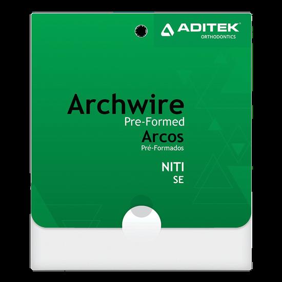 Arco Niti Quadrado 0,016''X0,016'' Inferior - 10 Unidades