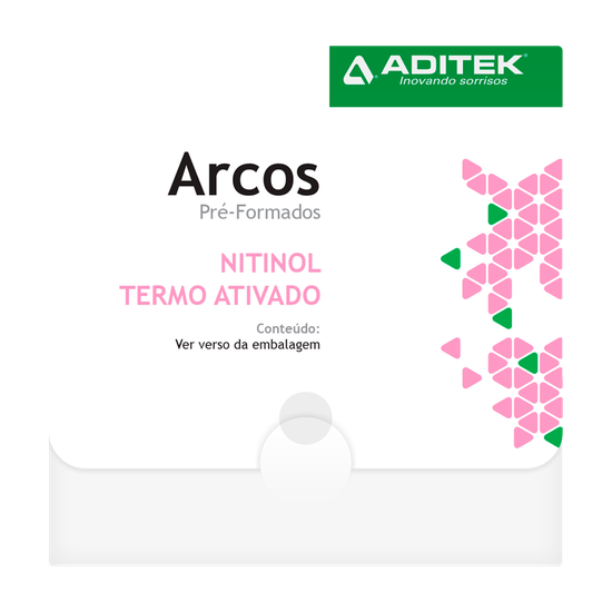 Arco Niti Termoativado Memoflex Bio Slide Retangular 0,016''x0,016'' Inferior - 10 Unidades