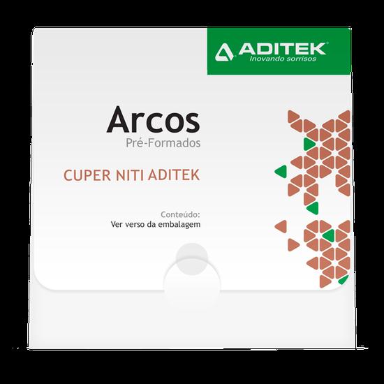 Arco NitiCuper Bio Slide G 0,016'' x 0,025 Universal  c/ Stop - 10 Unidades