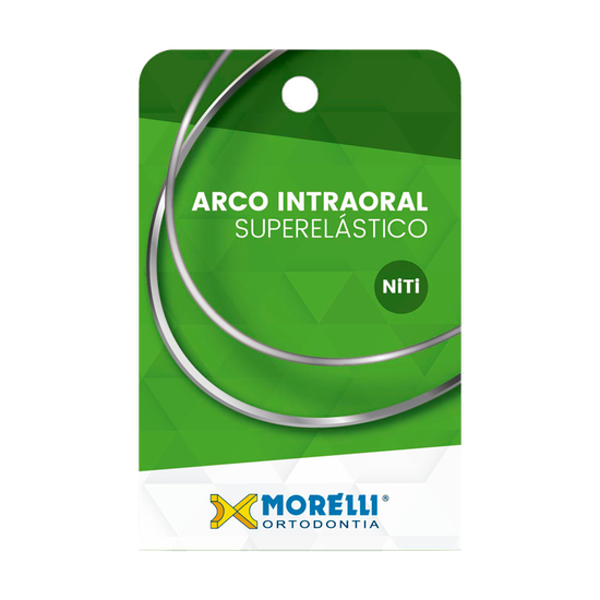 Arco Superelástico Niti Retangular 0,53X0,63mm - (0.021''X0.025'') Médio - 10 Unid - 50.72.015