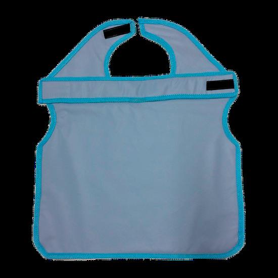 Avental de Borracha Plumb. Azul c/ Protetor de Tireóide 76x60cm - Uso Paciente Adulto