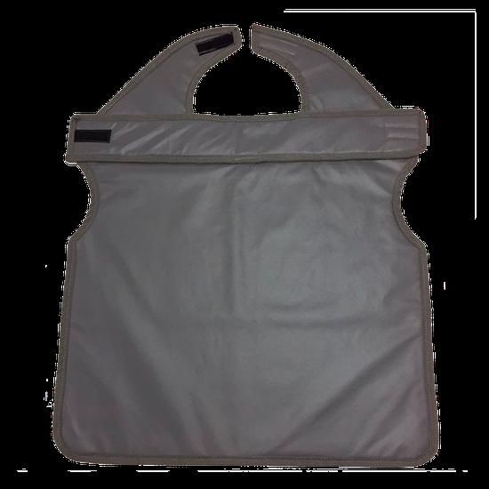 Avental de Borracha Plumb. Cinza c/ Protetor de Tireóide 76x60cm - Uso Paciente Adulto