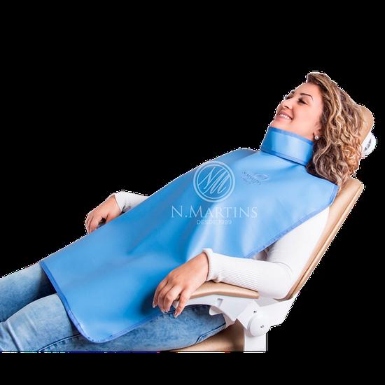 Avental de Borracha Plumbífera c/ Protetor de Tireóide 76x60cm - Uso Paciente Periapical c/ 0,25mm