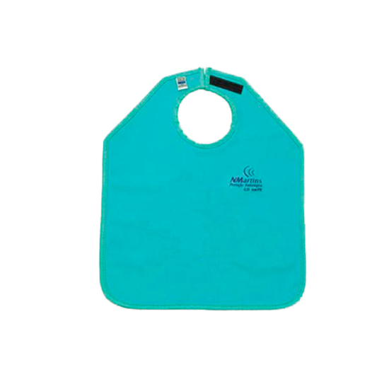 Avental de Borracha Plumbífera s/ Protetor de Tireóide 76x60cm - Uso Paciente Periapical c/ 0,25mm
