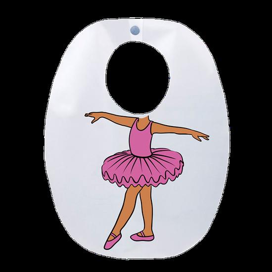 Babador Impermeável Infantil Bailarina - Lilás