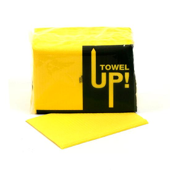 Babador Descartável Towel Up! Monoart - Amarelo
