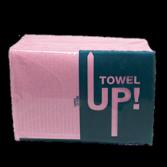 Babador Descartável Towel Up! Monoart - Rosa