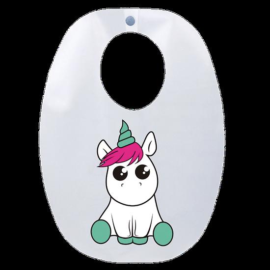 Babador Impermeável - Baby Unicornio