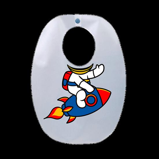 Babador Impermeável Infantil Astronauta
