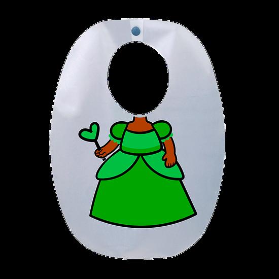 Babador Impermeável Infantil Princesa Flora
