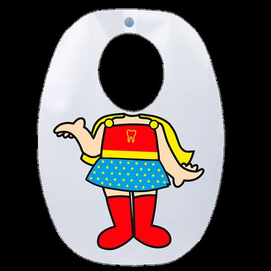 Babador Impermeável Infantil - Super Heroína