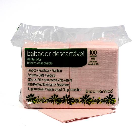 Babador Impermeável Rosa