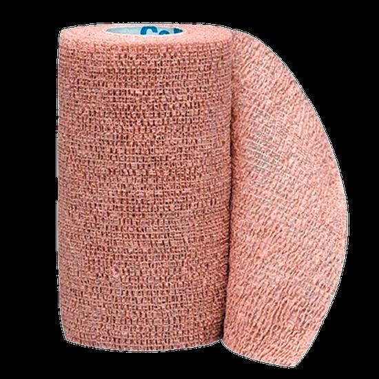 Bandagem Elástica Co-Plus Autoaderente Cor Nude - 7,5cm x 4,5m