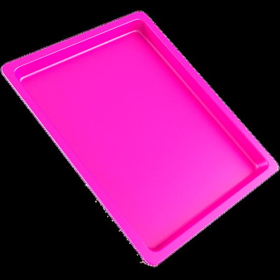 Bandeja p/ Esterilização de Instrumentos Grande - Rosa