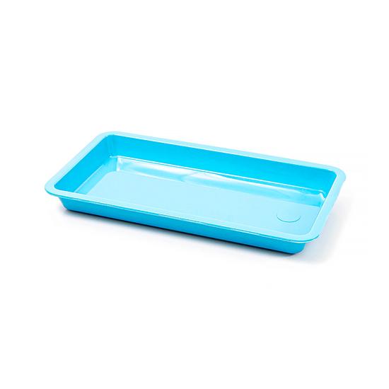 Bandeja p/ Esterilização 20 X 10 X 02cm - Azul