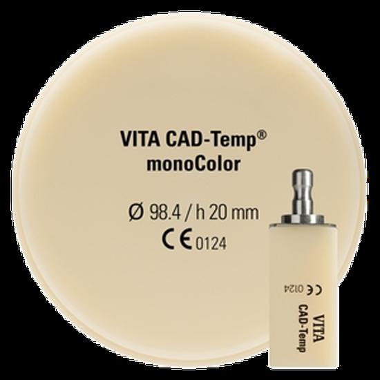 Bloco de Polímero de Acrilato Vita Cad-Temp Monocolor Ct40 3m2t - 2 Un.