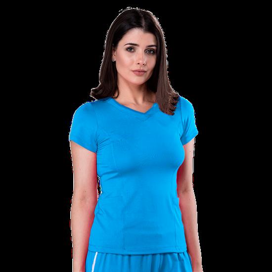 Blusa Scrub Feminina Dry Fit Azul Turquesa - Tam. 42