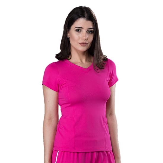 Blusa Scrub Feminina Dry Fit Pink - Tam. 40