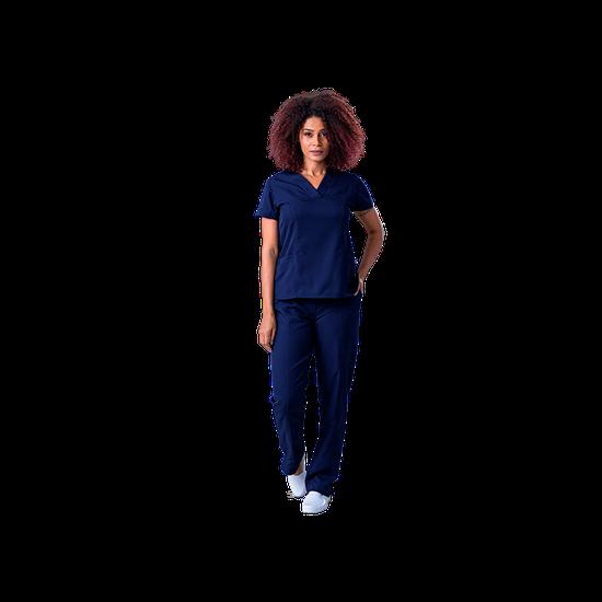 Blusa Scrub Feminina Gabardine Azul Marinho - Tam. 60