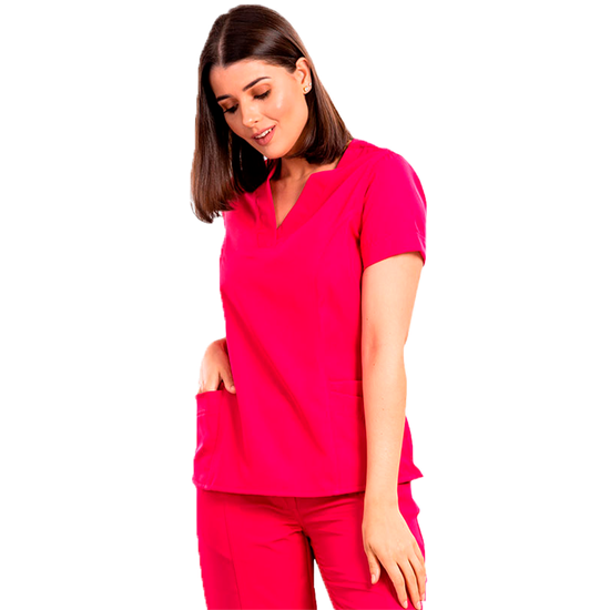 Blusa Scrub Feminina Gabardine Pink - Tam. 48