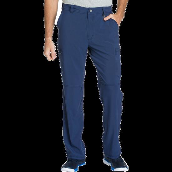 Calça Scrub Masculina com Zíper Frontal Azul Marinho