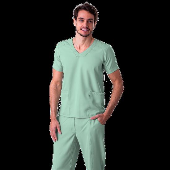 Blusa Scrub Masculina Gabardine Verde - Tam. 40