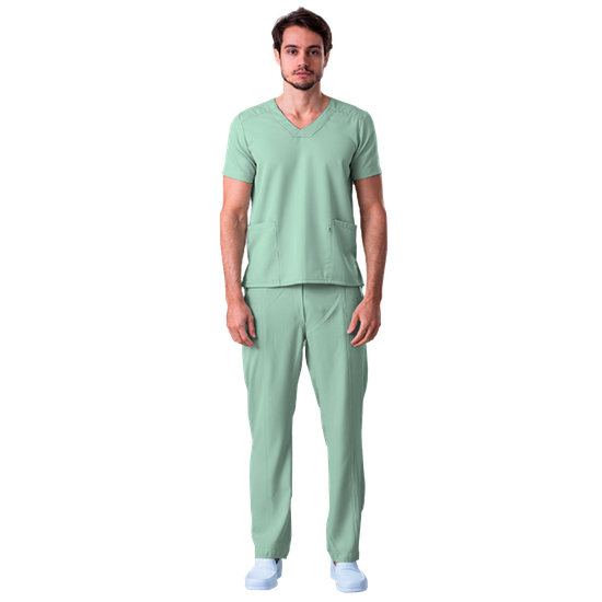 Blusa Scrub Masculina Gabardine Verde - Tam. 44