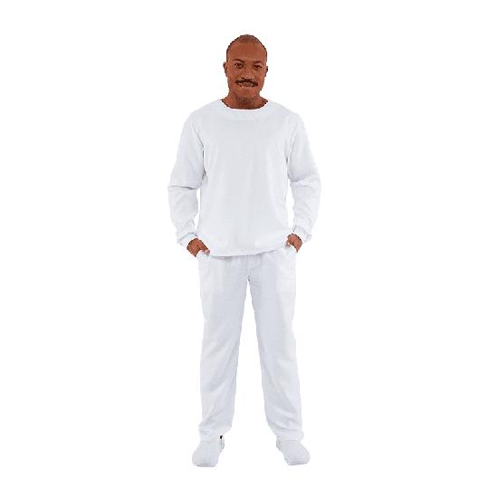Blusa Scrub Masculino Manga Longa Unik Branco - P
