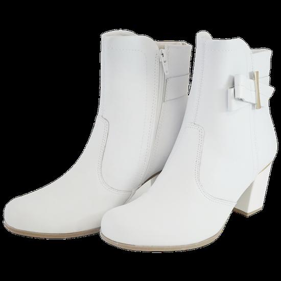 Bota Cano Curto Napa Branca - 33