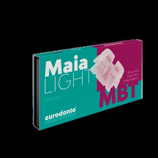Bráquete Cerâmico Maia MBT Light c/ Gancho Nos Caninos e Pré-Molares