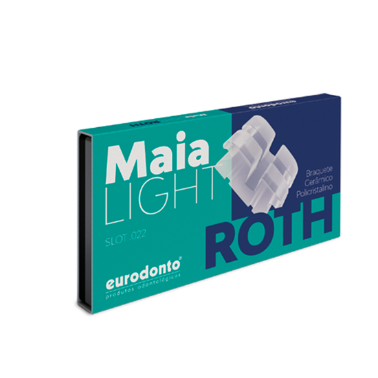 Bráquete Cerâmico Maia Roth Light c/ Gancho Nos Caninos e Pré-Molares