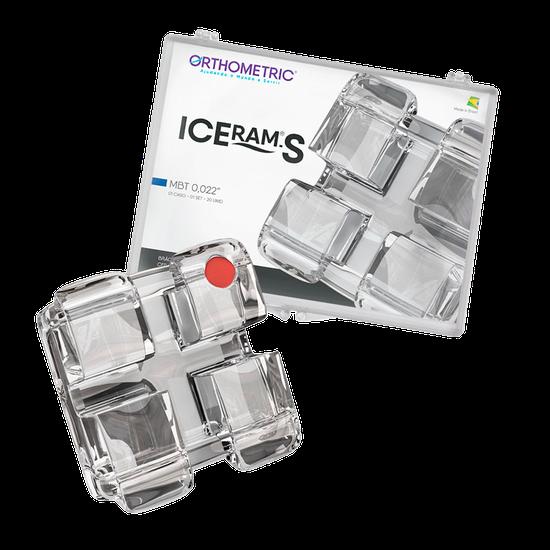 Bráquete Estético Iceram Safira Conjunto 5x5 - MBT 0,022'