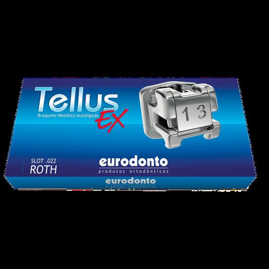 Bráquete Metálico Autoligado Tellus EX Roth 0,022'' c/ Gancho Nos Caninos e Pré-Molares