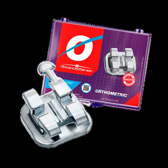 Bráquete Metálico Edgewise Advanced Series 0,022 - 10 Casos com Gancho