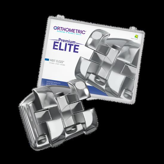 Bráquete Metálico Premium Elite - MBT 0.022''