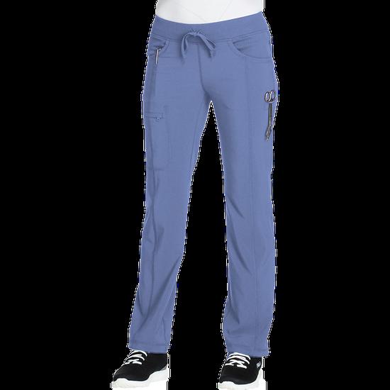 Calça Scrub Feminina Cintura Baixa Reta Azul Celeste