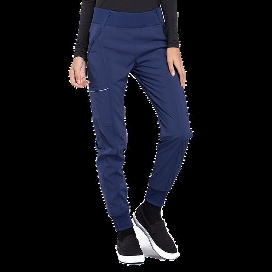 Calça Scrub Feminina Cintura Média Jogger Azul Marinho