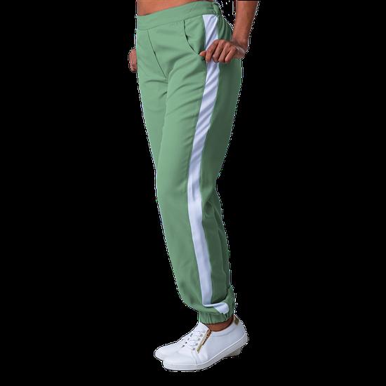 Calça Scrub Feminina Elizabeth Verde com Branco