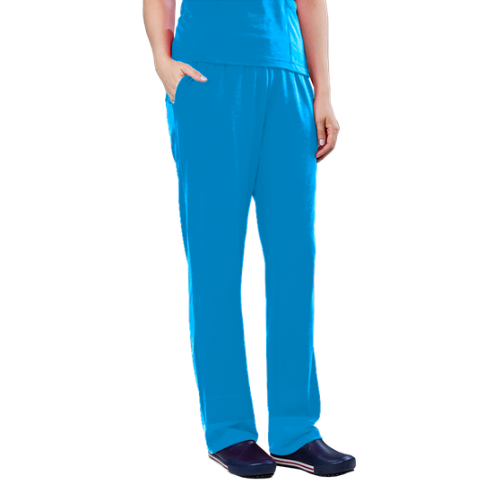 Calça Scrub Unissex Dry Fit Azul Turquesa - Tam. 44