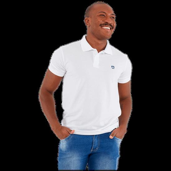 Camisa Masculina Polo Mr. Kitsch - Branco
