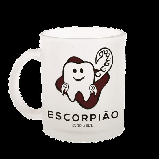 Caneca de Vidro Jateado - Signos - Escorpião