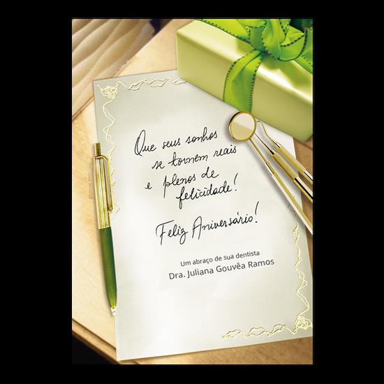 Cartão de Aniversário - Receituário Verde
