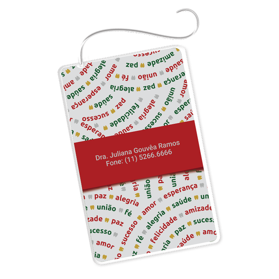 Cartão Fio Dental - Desejos Natalinos