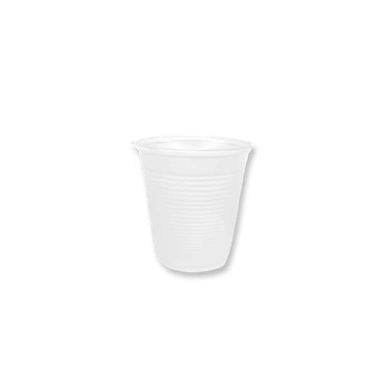 Copo Plástico Branco p/ Água 180ml