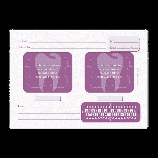 Ficha Rx 2 Espaços Arabescos Dental Roxo