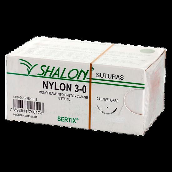 Fio de Sutura Nylon MT 1/2 - Ag. 1,5cm Triangular