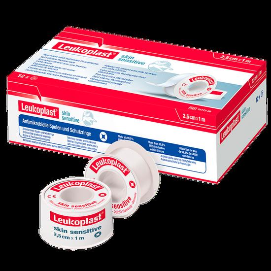 Fita Adesiva de Silicone Leukoplast Skin Sensitive Carretel - 2,5cm x 1m