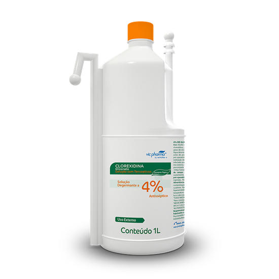 Antisséptico Gliconato de Clorexidina 4% Degermante com Dispenser 1l