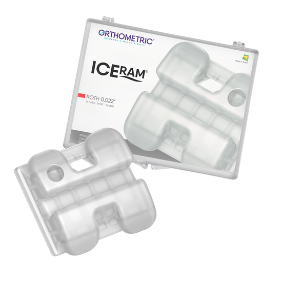 Bráquete Cerâmico Iceram Conjunto 5x5 - Roth 0,022''